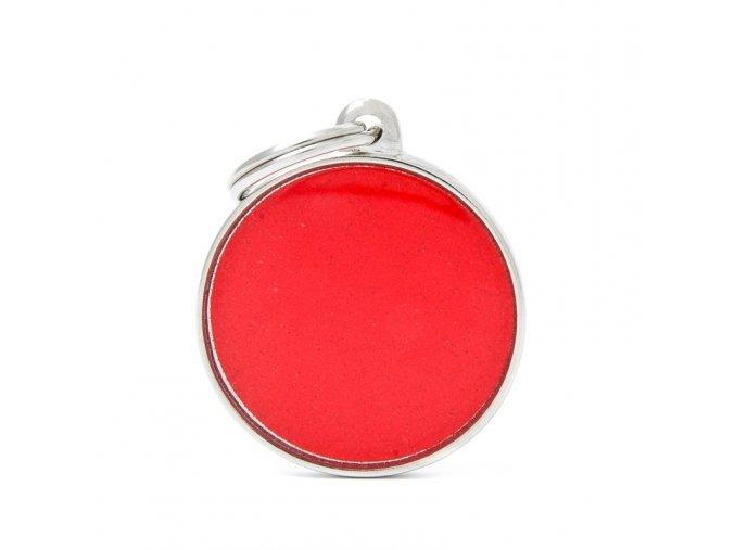 BIG CIRCLE REFLECTIVE RED