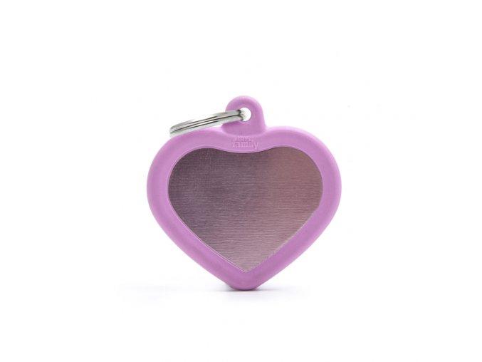 PINK HEART ALU PINK RUBBER