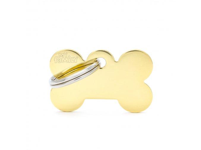 SMALL BONE GOLDEN BRASS