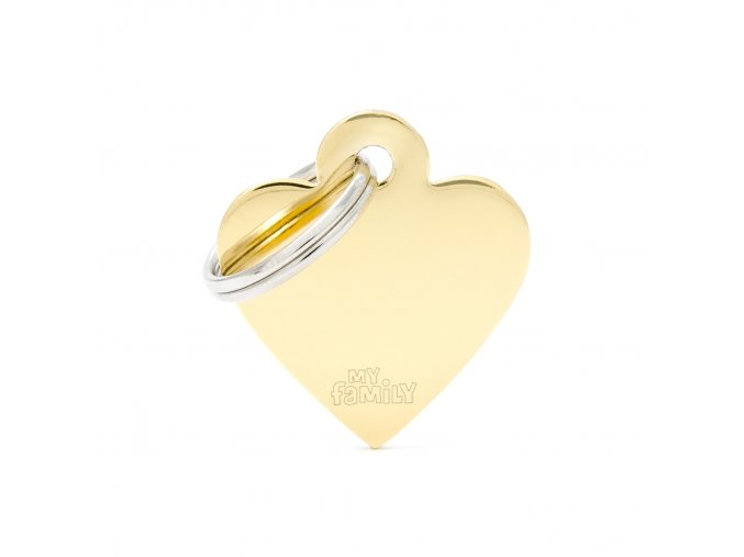 SMALL HEART GOLDEN BRASS