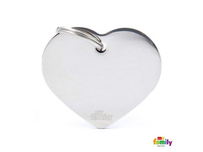 BIG HEART CHROME PLATED BRASS