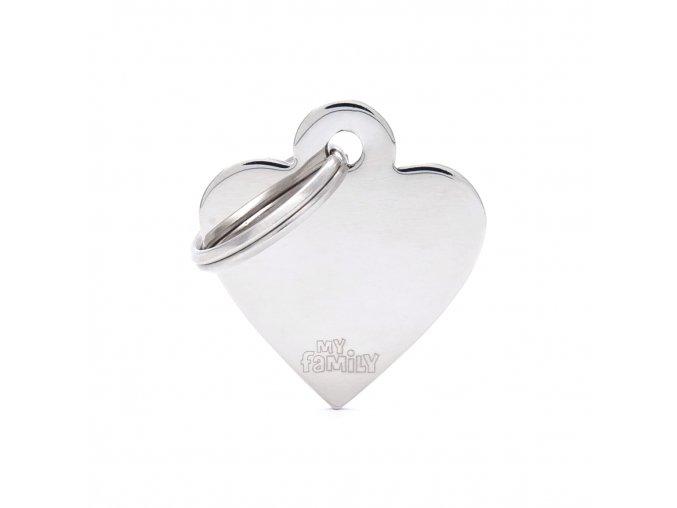 SMALL HEART CHROME PLATED BRASS
