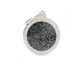 BIG CIRCLE GLITTER BLACK