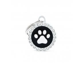 SMALL BLACK CIRCLE PAW GLAM