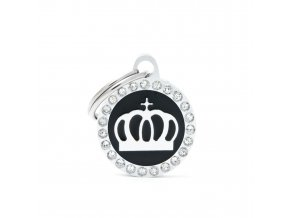 SMALL BLACK CIRCLE CROWN GLAM