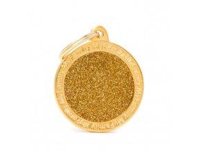 BIG CIRCLE GLITTER GOLD