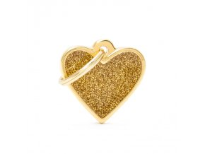 SMALL HEART GLITTER GOLD