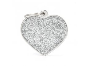 BIG HEART GLITTER GREY