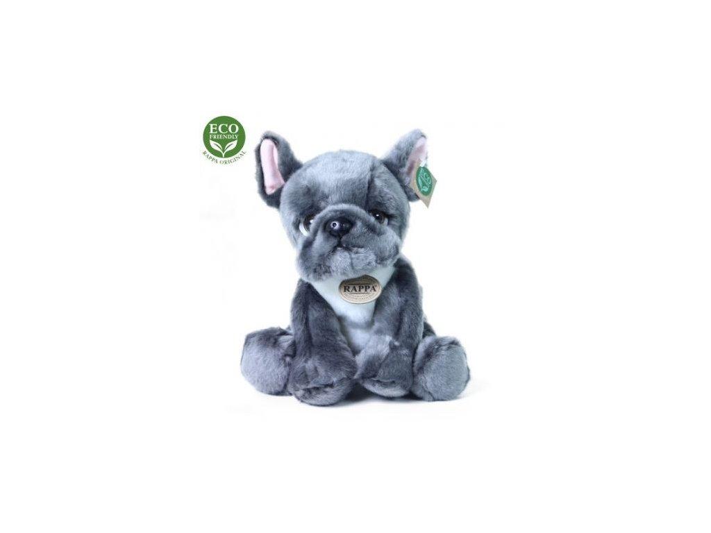Plyšový pes francouzský buldoček sedící 26 cm ECO-FRIENDLY