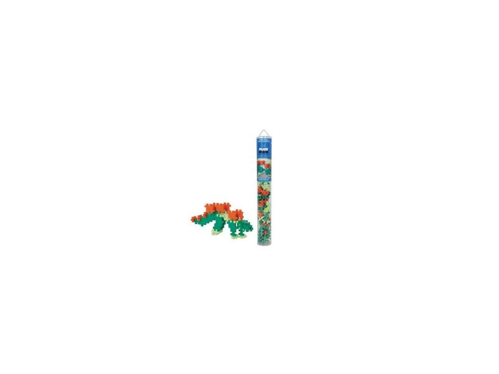 tubo mini basic 100 pezzi plusplus stegosaurus gioco modulare costruzioni dinosauro eta 5