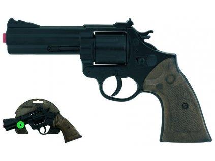 Policejní revolver kovový