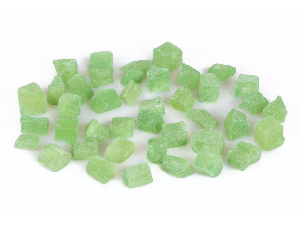 papaya kostky zelene