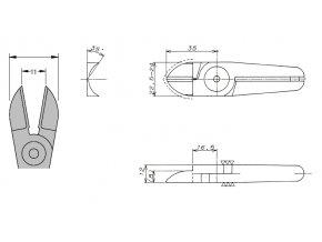 Nože N20AJ  - k nůžkám GT-N20