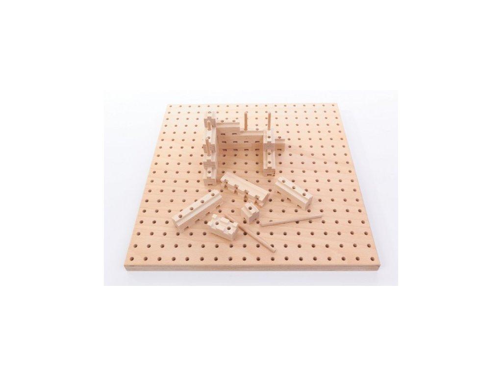 Dřevěná stavebnice BUKO - malá startovací sada - 141dílů