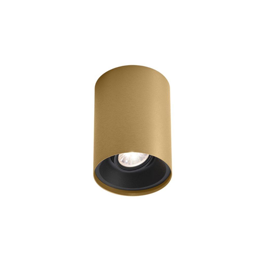 válcovité svítidlo černo zlaté