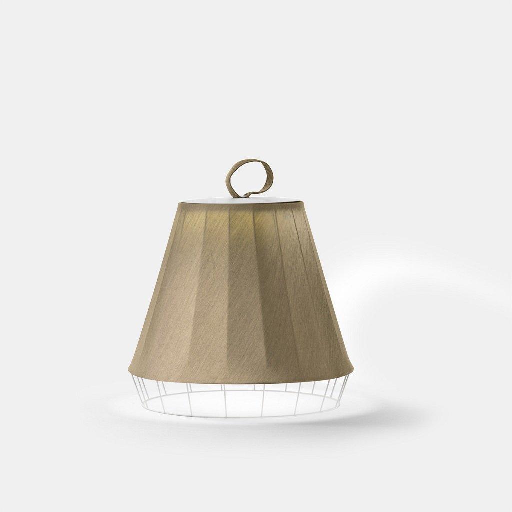 látková podlahová lampa