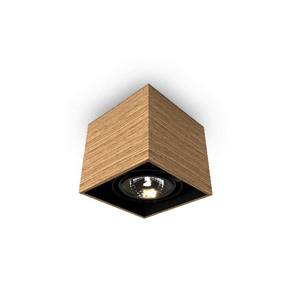 dřevěné svítidlo kostka