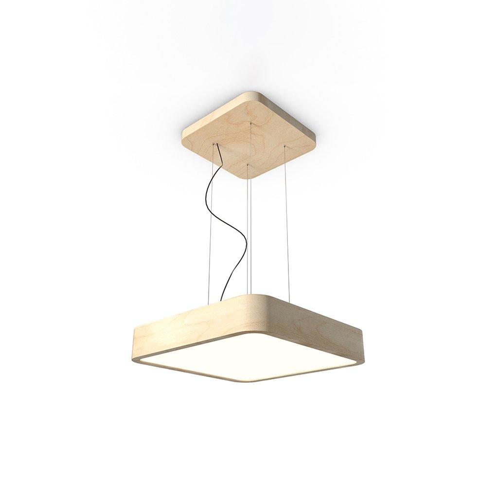 závěsný dřevěný čtverec led