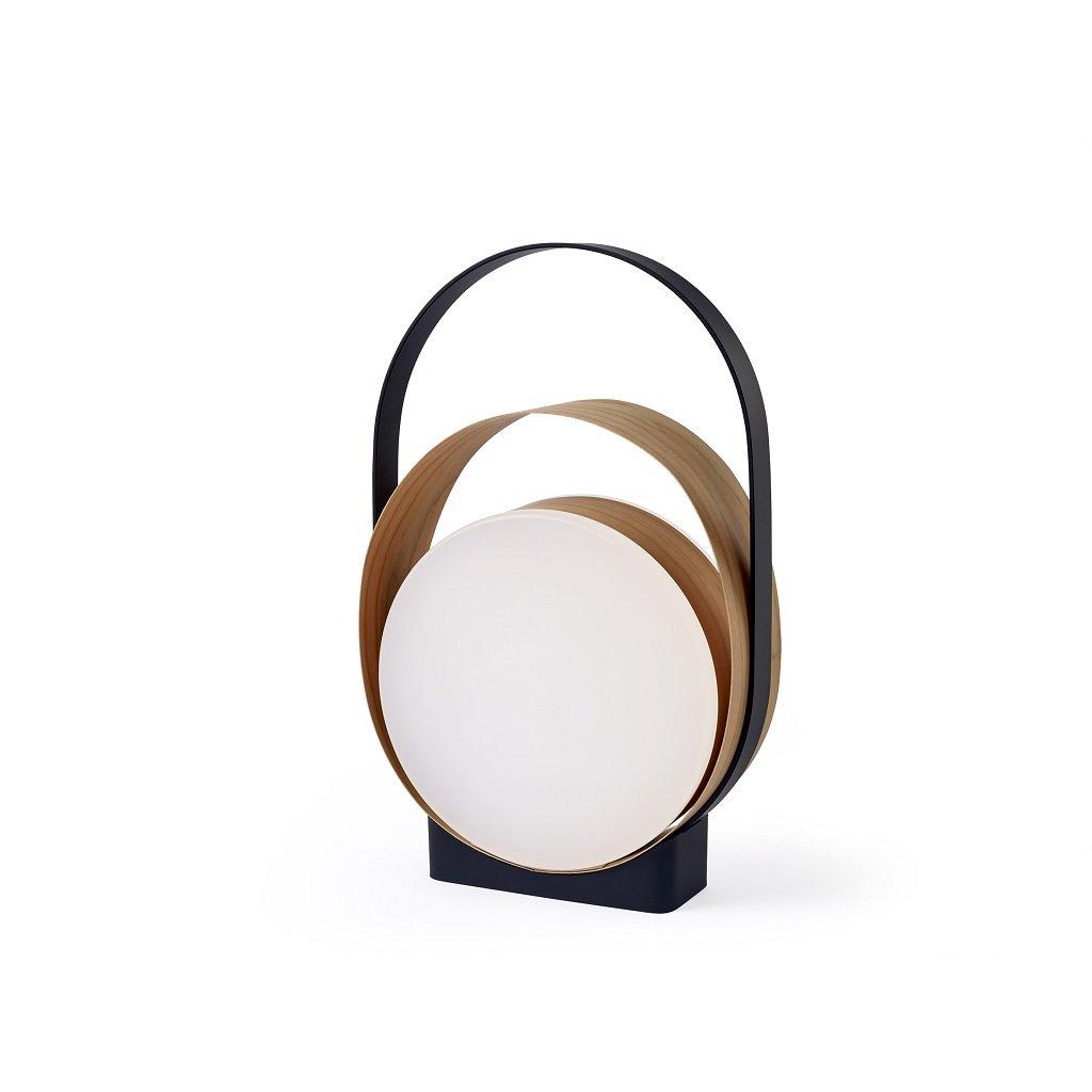 led lampa se dřevem