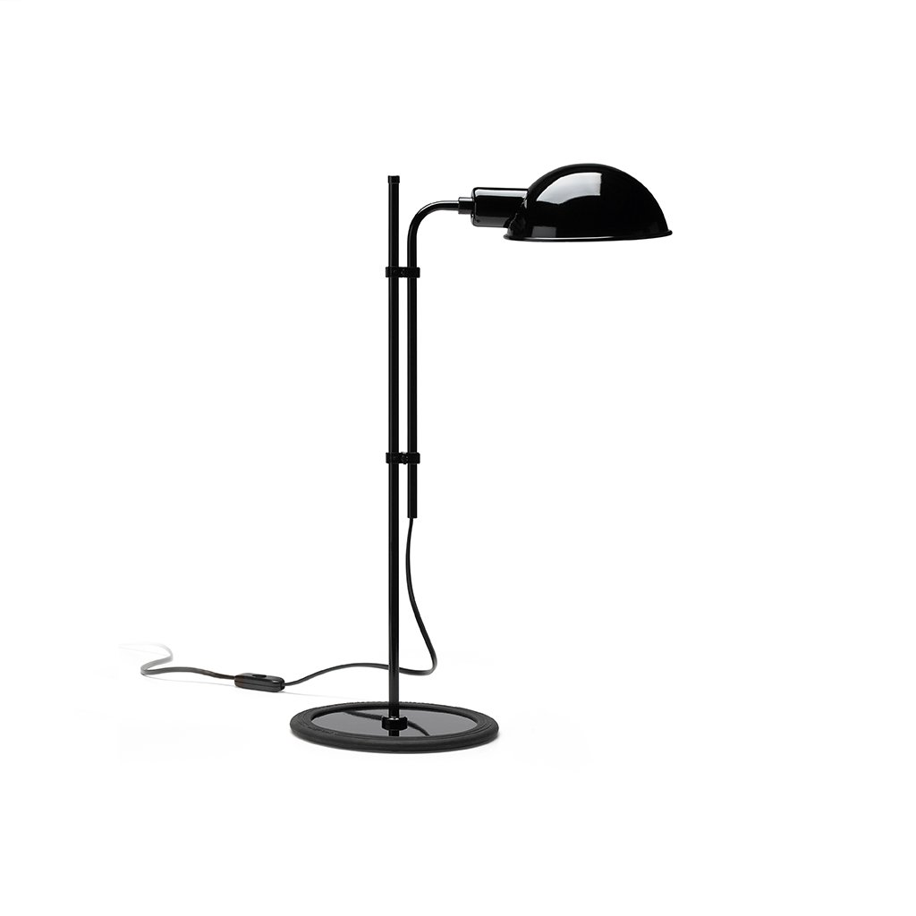 černá stylová lampička