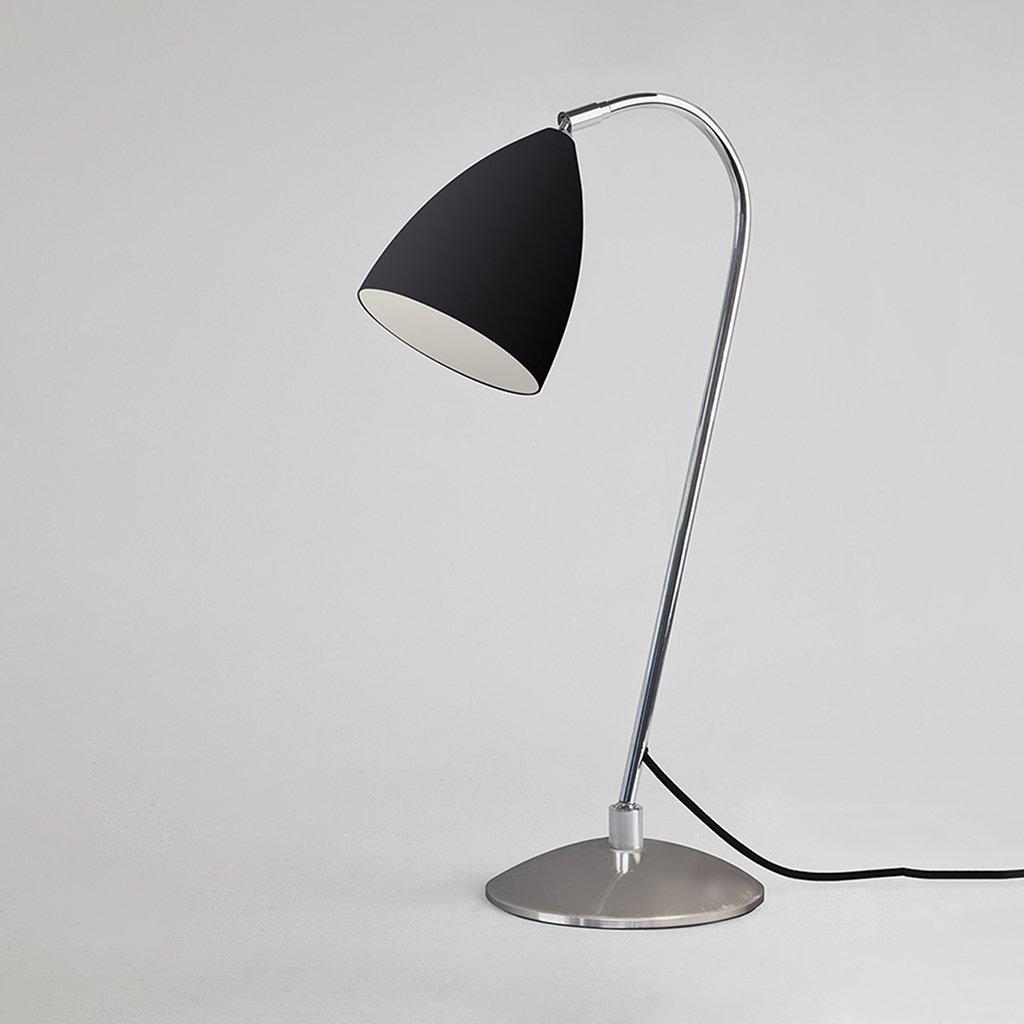 chromová stolní lampa