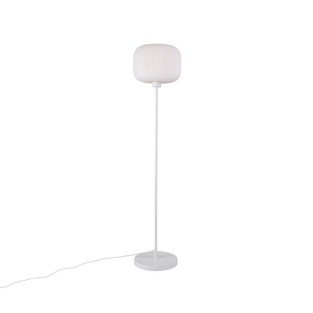stojací lampa s hlavou s rýhovaným sklem