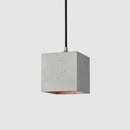 betonové závěsné svítidlo