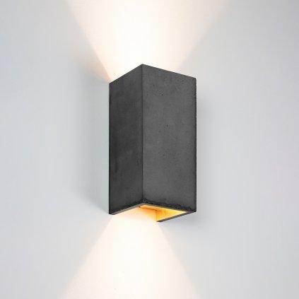 betonové nástěnné svítidlo