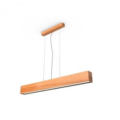 závěsné lineární dřevěné světlo