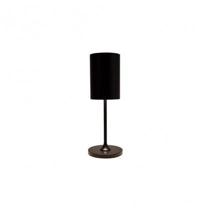 černá stolní lampička