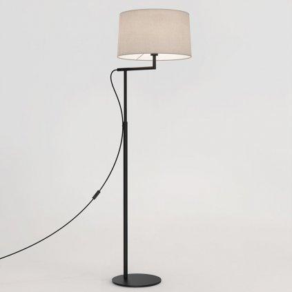 stojací lampa s pohyblivým ramenem