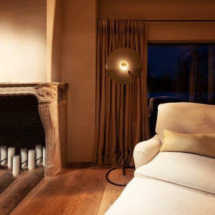 Lampa Mirro Floor 2.0 černá, černý chrom
