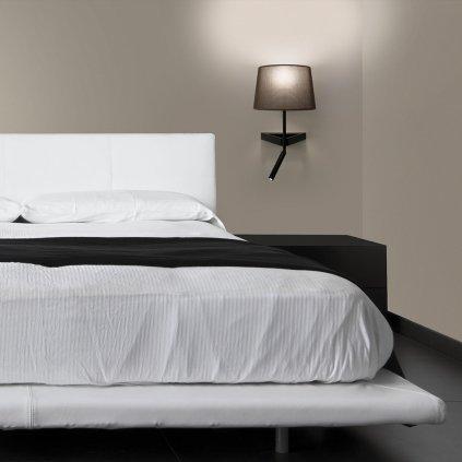 moderni nastenna lampicka k posteli na cteni