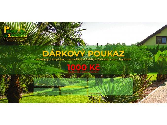 Dárkový Poukaz - Hodnota 1000 Kč