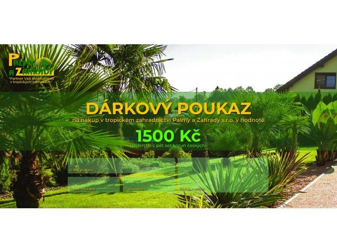 Dárkový Poukaz - Hodnota 1500 Kč