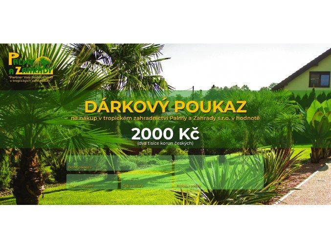 Dárkový Poukaz - Hodnota 2000 Kč