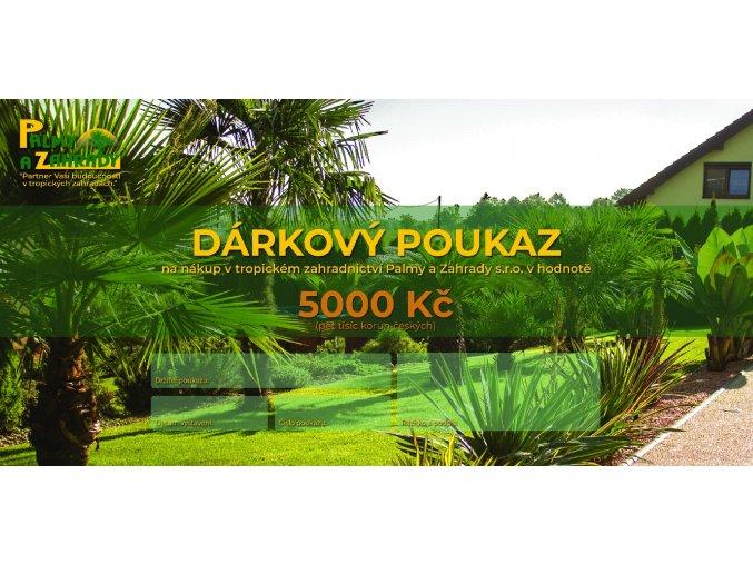 Dárkový Poukaz - Hodnota 5000 Kč