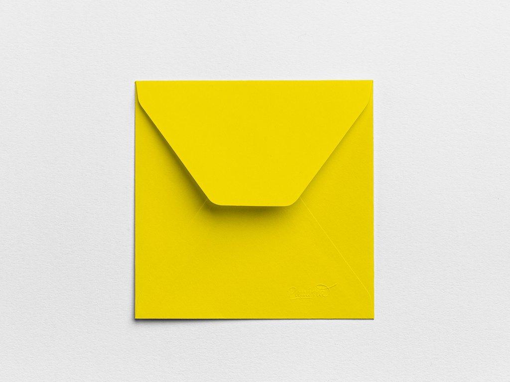 Obálky Čtverec banánové (3ks)