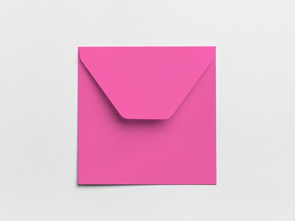 Obálky Čtverec purpurové (3ks)