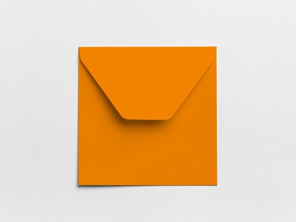 Obálky Čtverec oranžové (3ks)