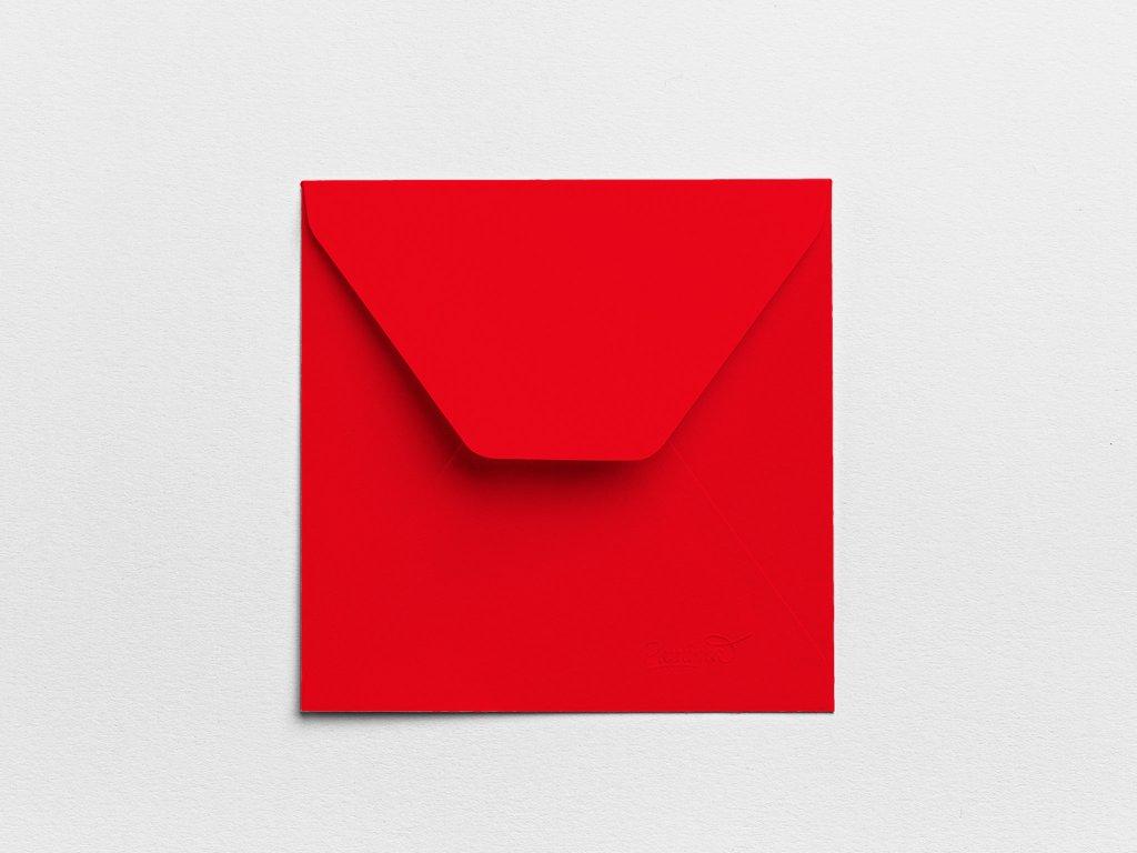 Obálky Čtverec červené (3ks)