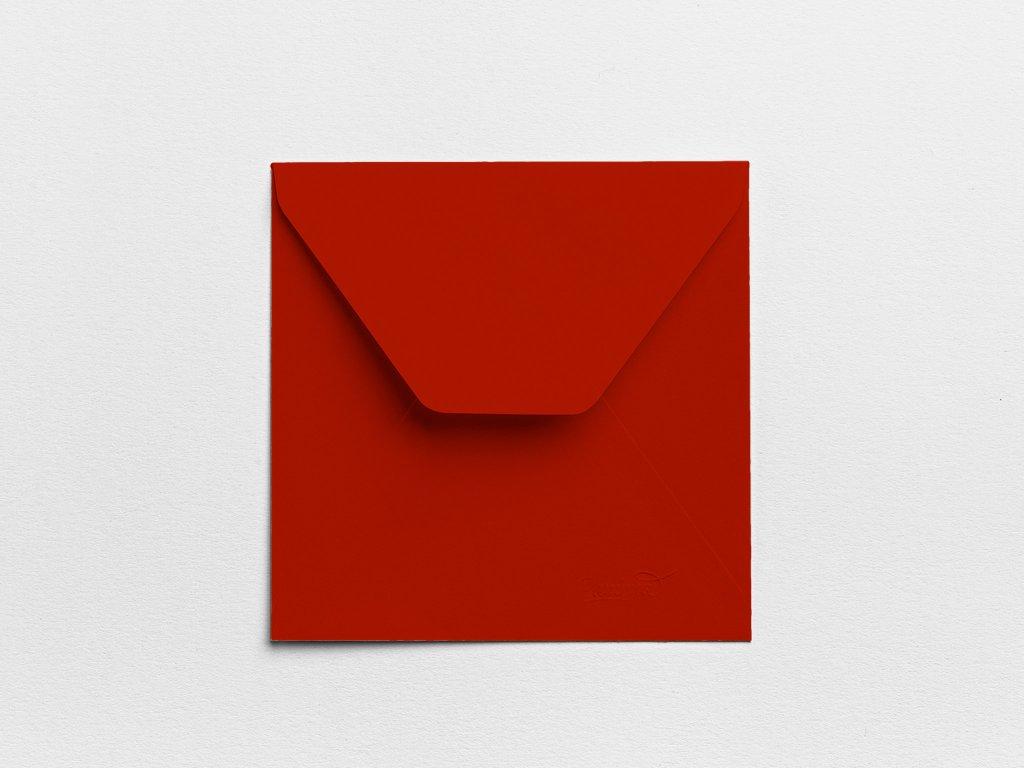 Obálky Čtverec tmavočervené (3ks)