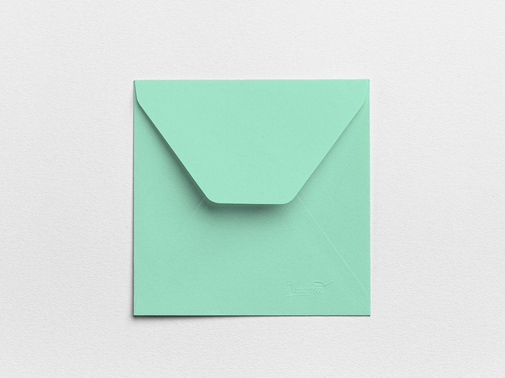 Obálky Čtverec mintové (3ks)
