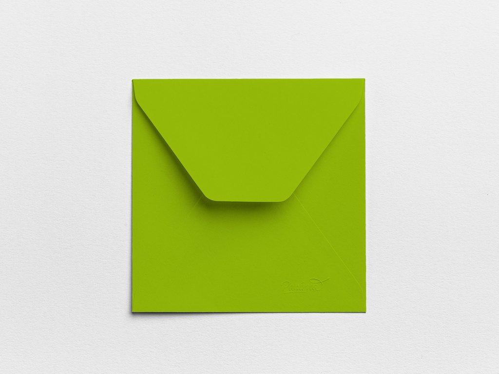 Obálky Čtverec limetové (3ks)