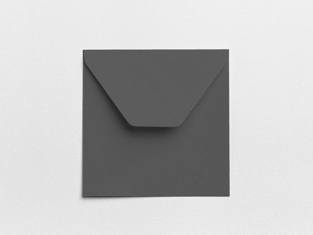 Obálky Čtverec antracitové (3ks)