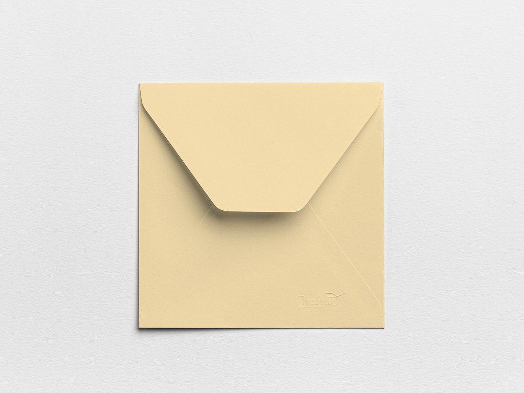 Obálky Čtverec béžové (3ks)