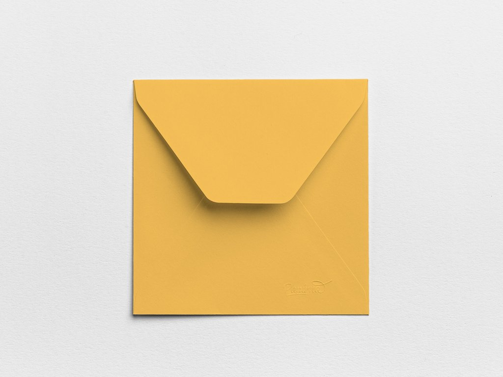 Obálky Čtverec meruňkové (3ks)