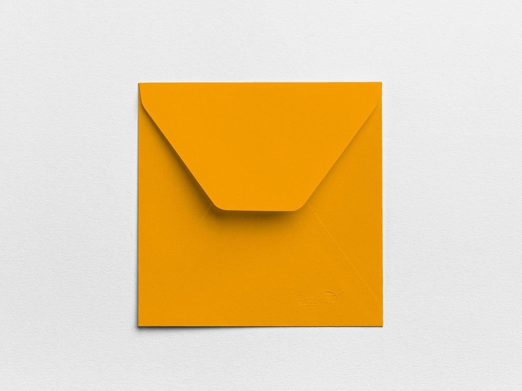 Obálky Čtverec okrové (3ks)