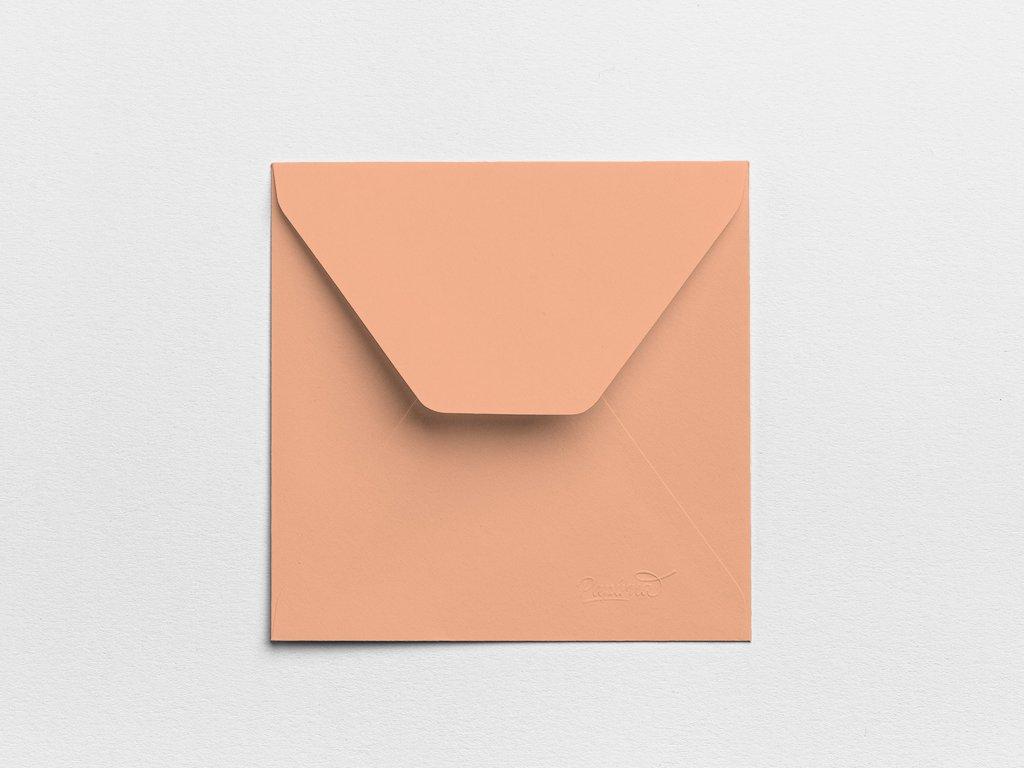 Obálky Čtverec lososové (3ks)