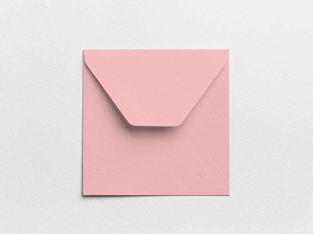 Obálky Čtverec růžové (3ks)